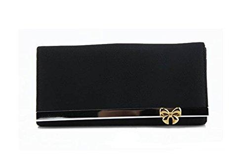 Aolevia-Élégant-Noir-Porte-Monnaie-Femme-En-Imitation-Cuir-Portefeuille-avec-Un-Bouton-Papillon-en-Métal-Idéal-Pour-SoiréeCocktailBal-0