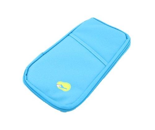 Aolevia-1pc-Multifonctionnel-Sac-de-Voyage-Trousse-de-Rangement-Portefeuille-Parfait-pour-Téléphone-PortableMonnaieCarte-didentité-Carte-VISAChèque-Bleu-0