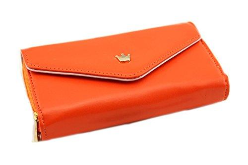 Aolevia-1pc-Une-Portefeuille-Femme-en-Cuir-Porte-monnaie-Etui-Bourse-HoussePorte-carte-pour-Iphone-Samsung-S3-Peut-Contenir-des-Cartes-Monnaie-Téléphone-portable-multifonctionnel-et-à-la-mode-Orange-0