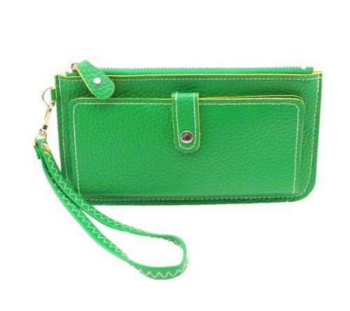 Aolevia-Une-Longue-Portefeuille-Femme-en-PU-Cuir-Avec-Un-Bouton-et-Un-Ruban-Pour-CarteMonnaie-Multifonctionnel-et-Portable-Vert-0