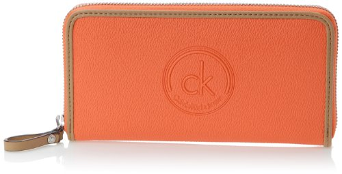 Calvin-Klein-Jeans-Mel-Large-Zip-Around-Portefeuille-Rouge-630-Coral-Taille-Unique-0