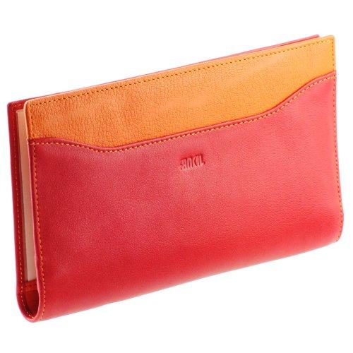 Compagnonporte-chéquier-femme-Portefeuille-en-cuir-N1547-Rouge-Orange-0