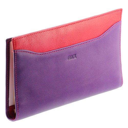 Compagnonporte-chéquier-femme-Portefeuille-en-cuir-N1550-Violet-Rouge-0
