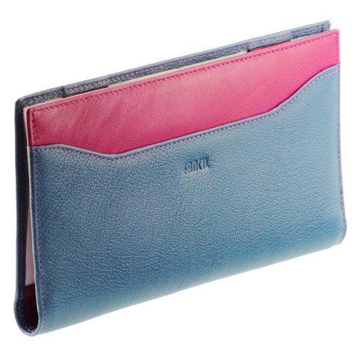 Compagnonporte-chéquier-femme-Portefeuille-en-cuir-N1552-Bleu-Violet-0