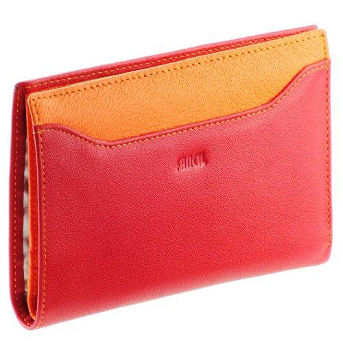 fancil portefeuille cuir rouge orange n1541. Black Bedroom Furniture Sets. Home Design Ideas
