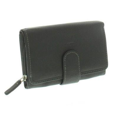 fancil portefeuille porte monnaie femme en cuir noir. Black Bedroom Furniture Sets. Home Design Ideas