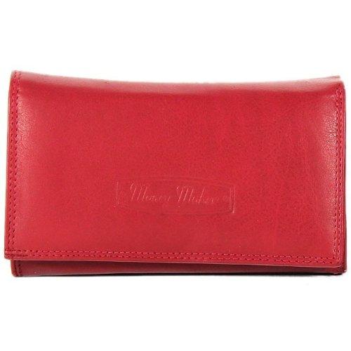 money maker portefeuille en cuir pour femme rouge rouge one size eu portefeuille femme. Black Bedroom Furniture Sets. Home Design Ideas