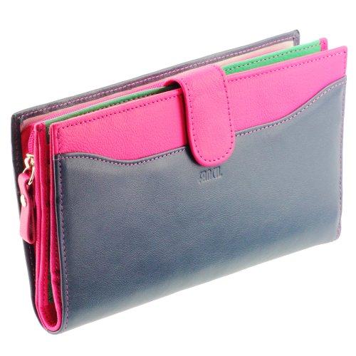 portefeuille femme portefeuille en cuir bleu fushia n1556 compagnon portefeuille femme. Black Bedroom Furniture Sets. Home Design Ideas