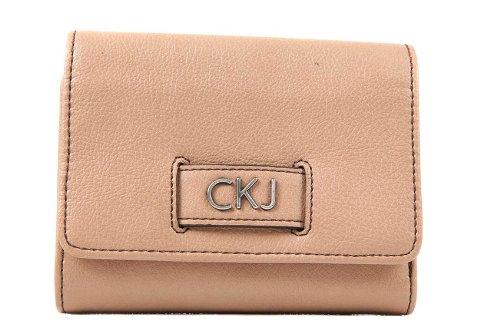 Calvin-Klein-portefeuille-porte-monnaie-femme-en-cuir-deux-plis-marron-0