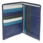 Fancil-Portefeuille-bleu-intrieur-multicolore-3-volets-en-cuir-lisse-0