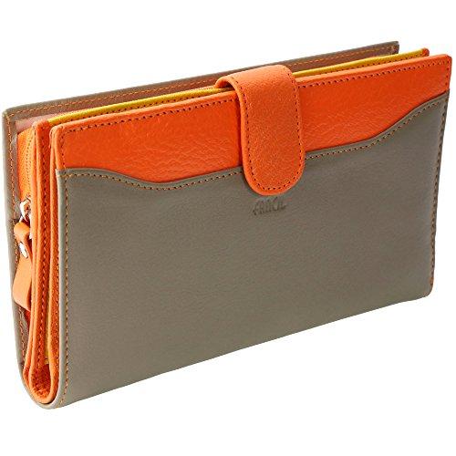 portefeuille femme portefeuille en cuir beige taupe orange n1778 compagnon stylo stylet. Black Bedroom Furniture Sets. Home Design Ideas